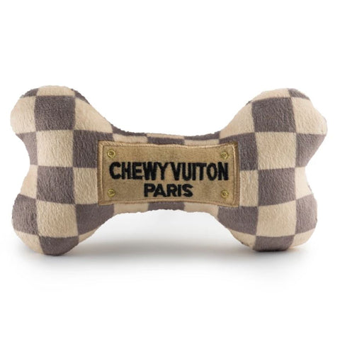 Chewy Vuiton Bone Plush Pet Toy