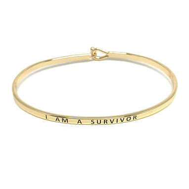 Mantra Bangle 'I Am A Survivor'