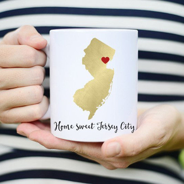 NJ Jersey City Coffee Mug Cup