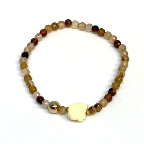 Baby Elephant Gemstone Stretch Bracelet