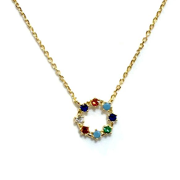 Kory Multi Round Necklace