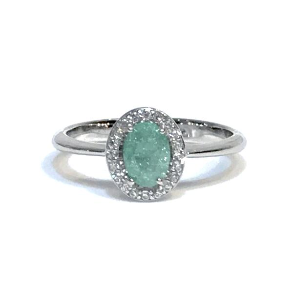 Adriene Gemstone Oval Cut CZ Ring