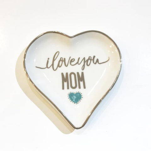 Jewelry Dish- Heart I Love You Mom