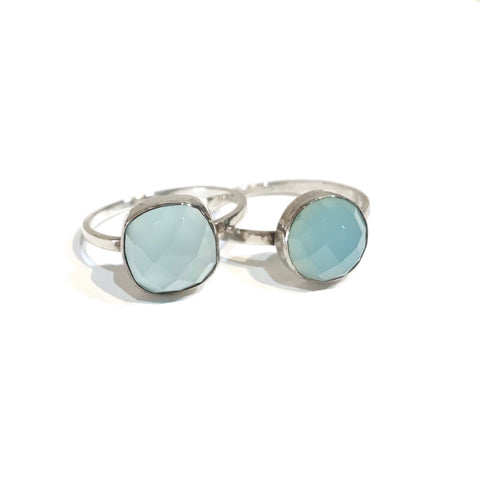 Felice Gemstone Ring Blue