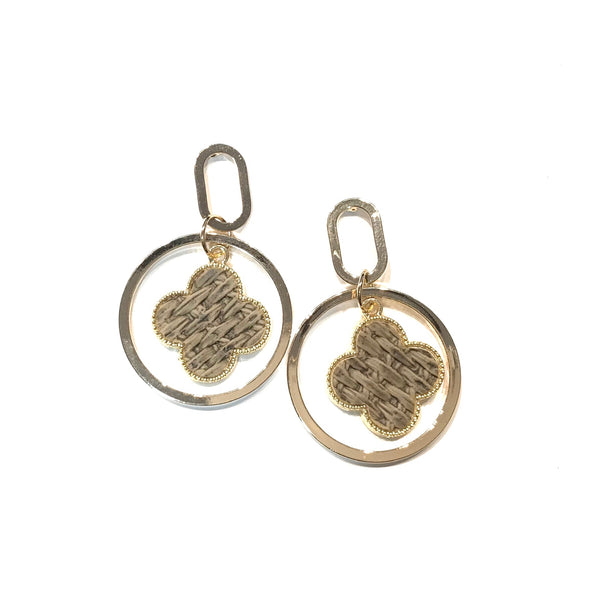 Kory Flora Round Earrings