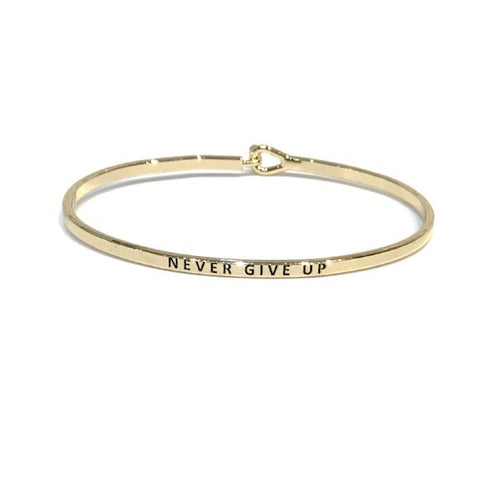 Mantra Bangle 'Never Give Up'