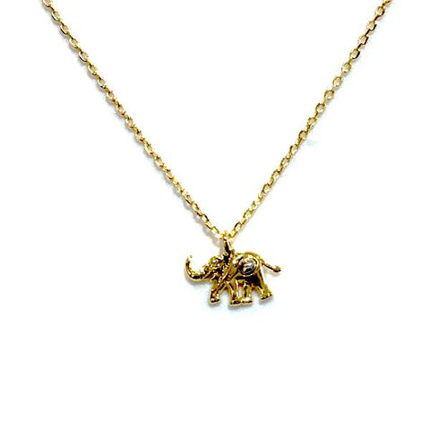 Elephant Brass Necklace