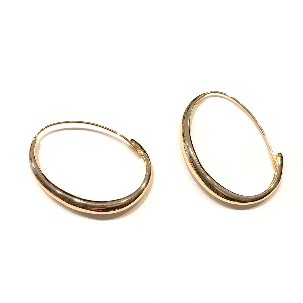 Oval Threader GF Hoops