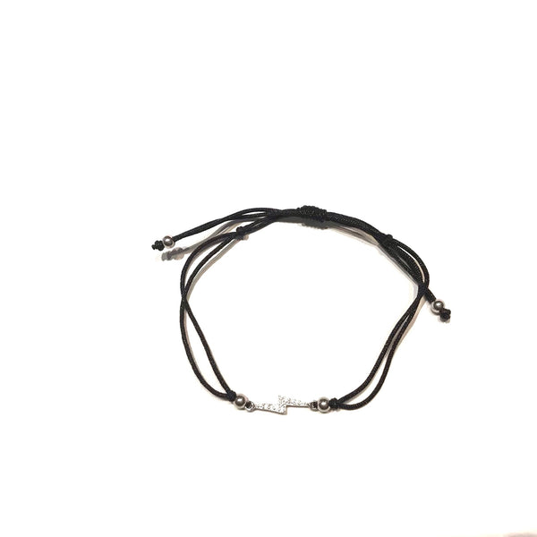 Lightning Bolt CZ Adjustable Bracelet