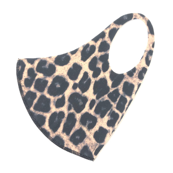 Noellery Strong Adult Unisex Brown Leopard Face Mask