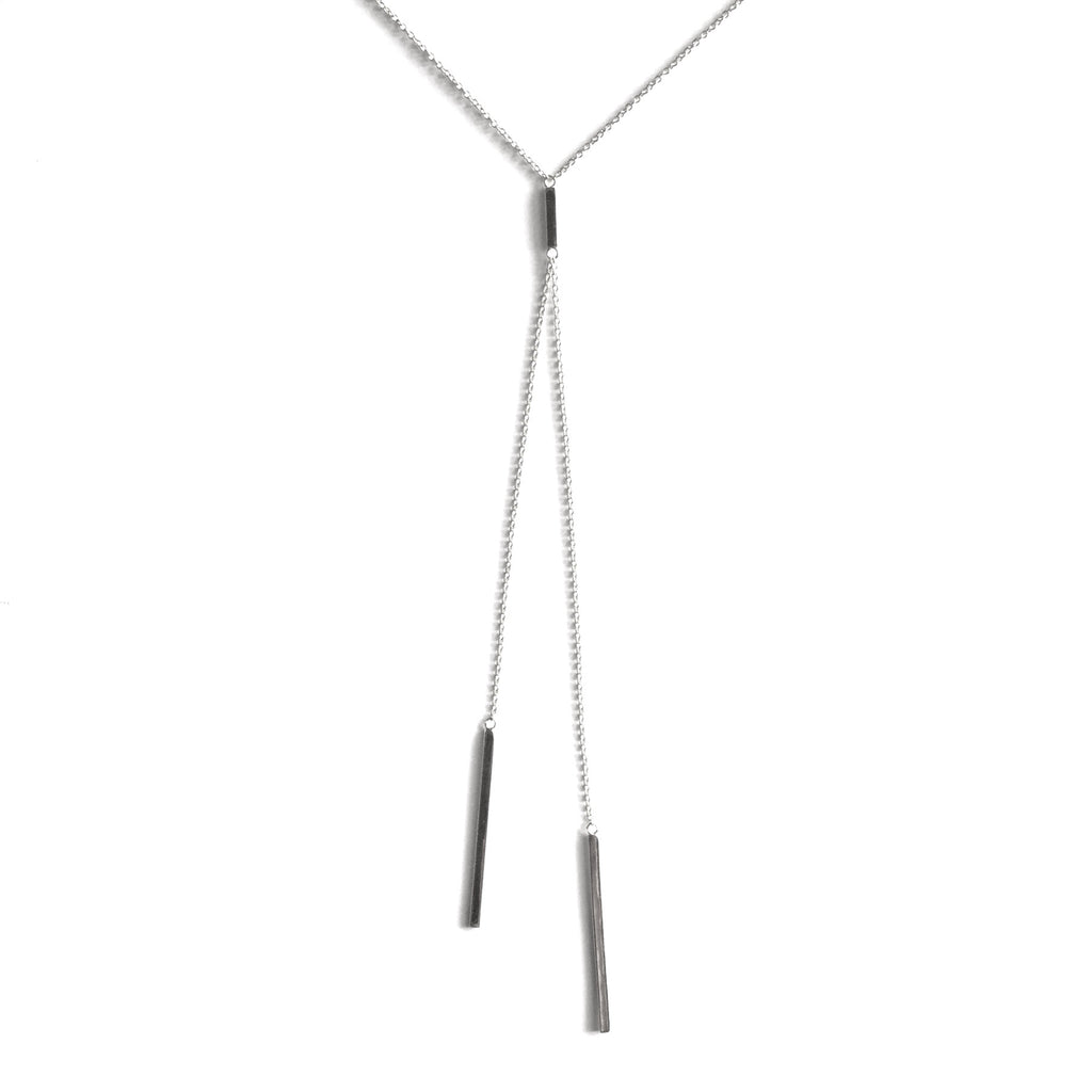 Barbara Double Swinging Bar Lariat Long Necklace