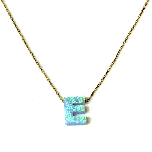 Initial Opal Necklace
