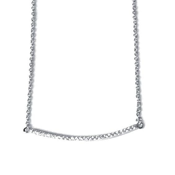 Barbara Curved CZ Necklace