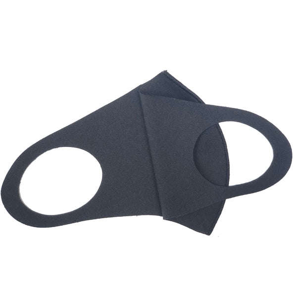 Noellery Strong Adult Unisex Solid Black Reusable Face Mask