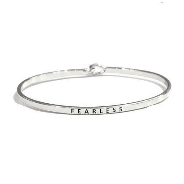 Mantra Bangle 'Fearless'