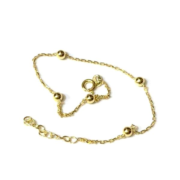 Sterling Silver Big Ball Anklet