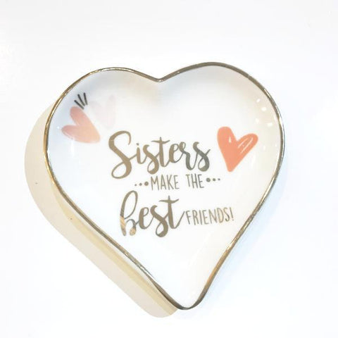 Jewelry Dish- Heart Sister