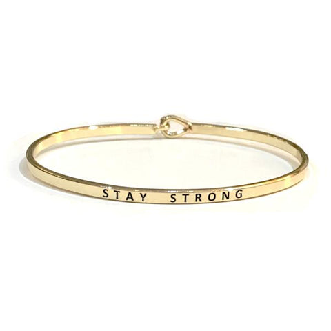 Mantra Bangle 'Stay Strong'