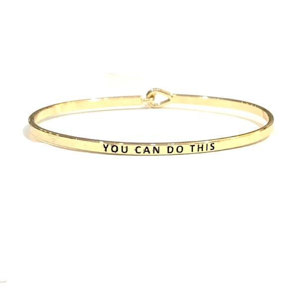 Mantra Bangle 'You Can Do This'