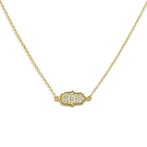 Hamsa Sideways Necklace
