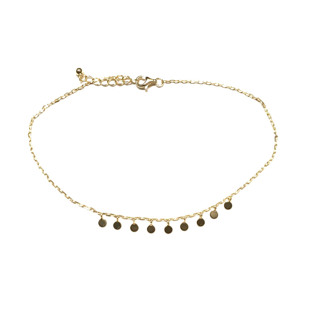 Geovana Circle Charms Anklet