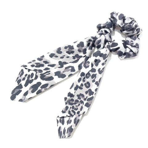 Hair Ponytail Scrunchie Scarf Leopard