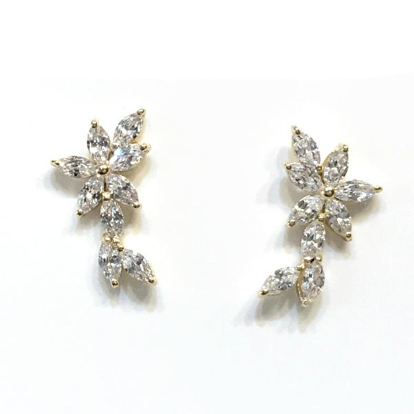 Clara Flower CZ Crawlers