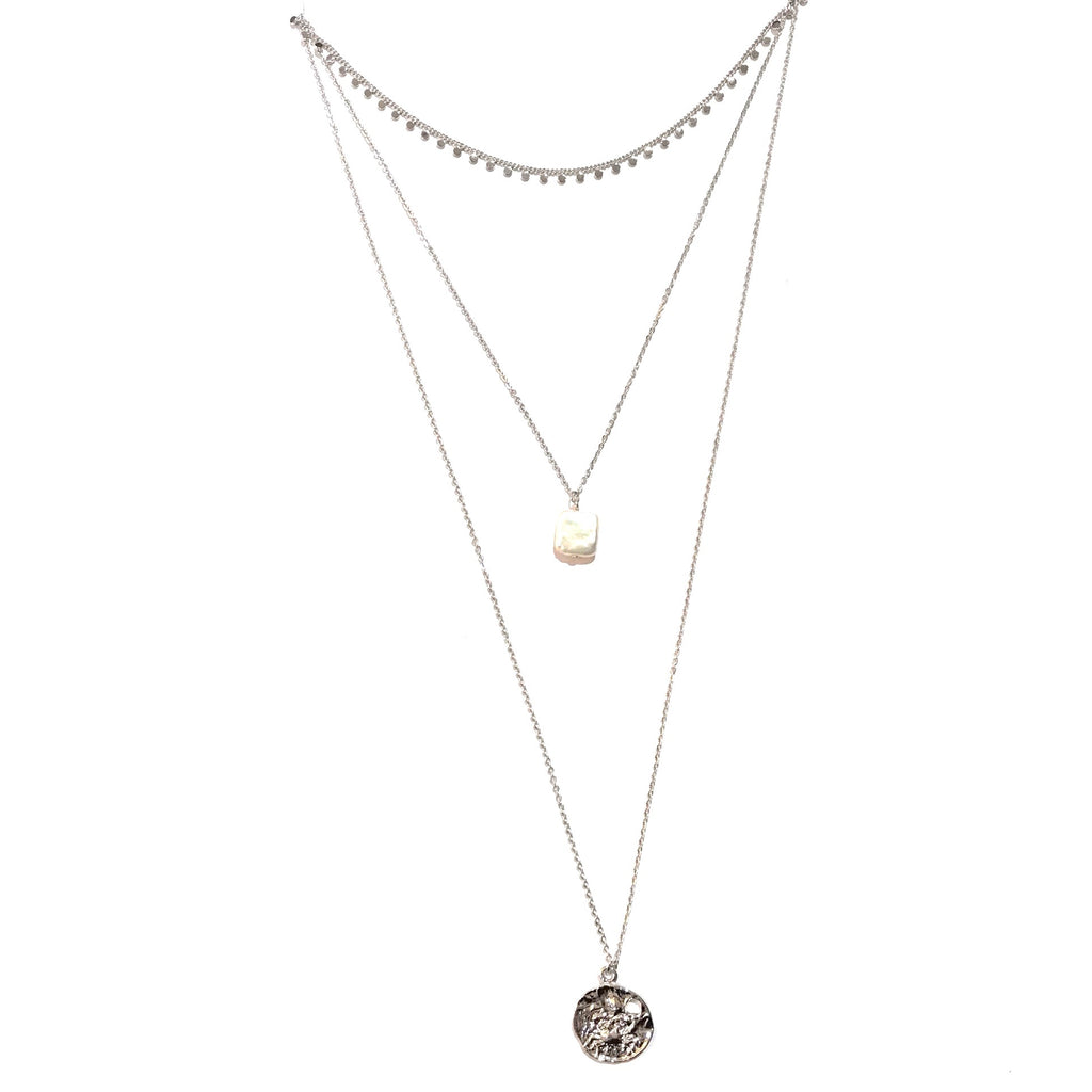 Kory Three Layered Pearl  Necklace