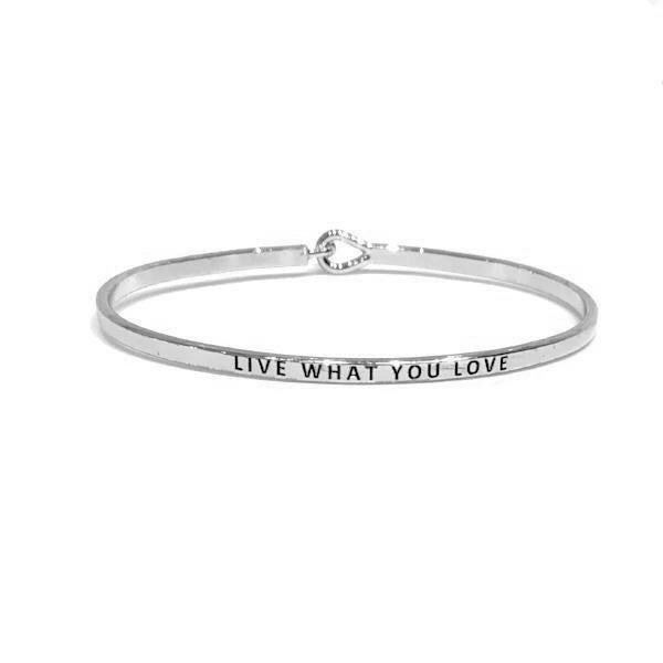 Mantra Bangle 'Live What You Love'