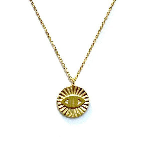 Evil Eye Brass Necklace
