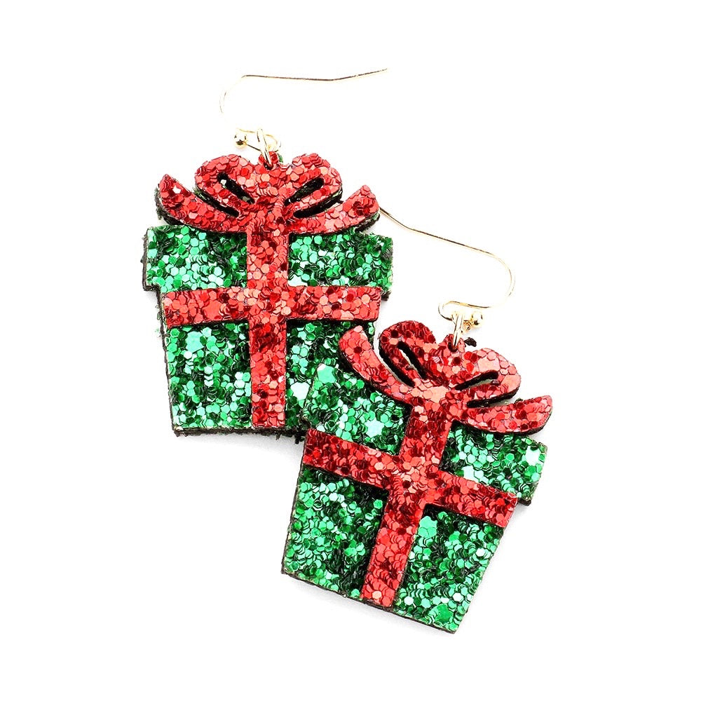 Glitter Present Earrings
