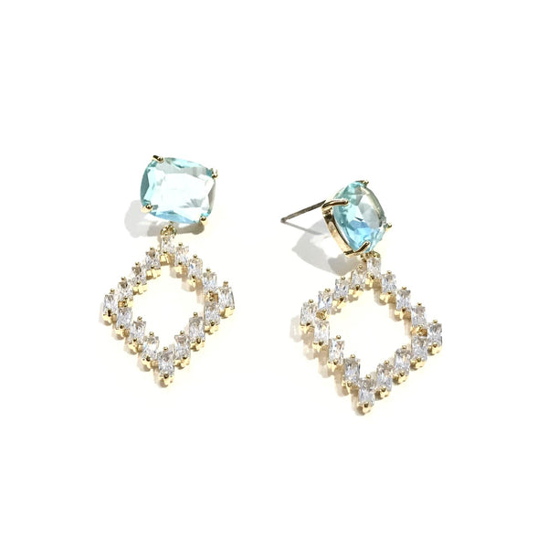 Kory Diamond Gemstone Earrings