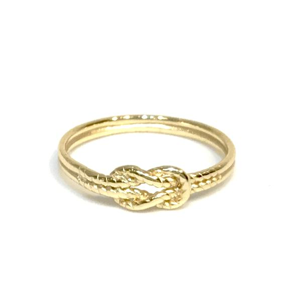 Infinity Double Rope Knot Ring