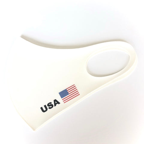 Noellery Strong Unisex America USA White Reusable Face Mask