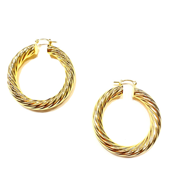 Gold Filled Twisted Clasp Hoops