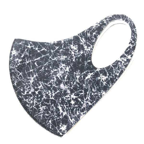 Noellery Strong Adult Unisex Black White Marble Reusable Face Mask