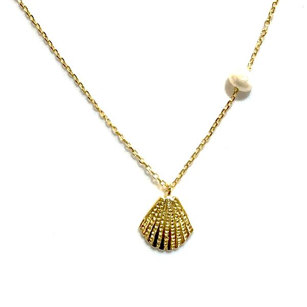 Shell Freshwater Pearl Necklace