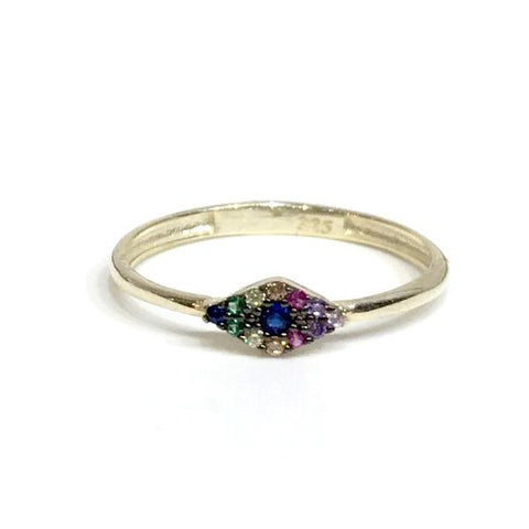 Evil Eye Rainbow Ring