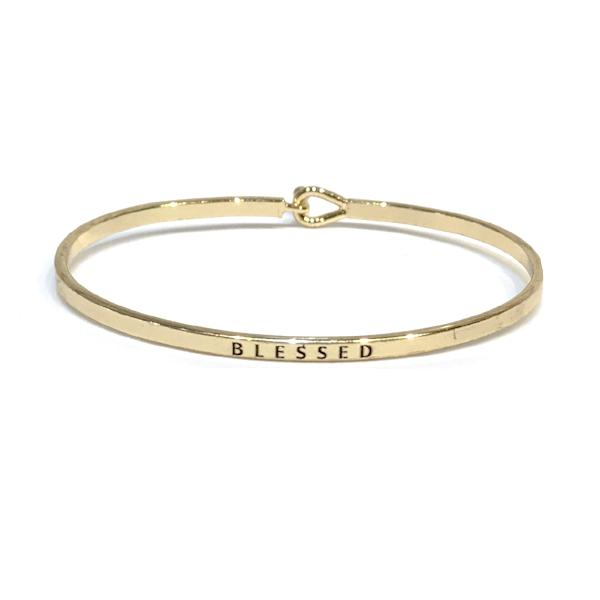 Mantra Bangle 'Blessed'