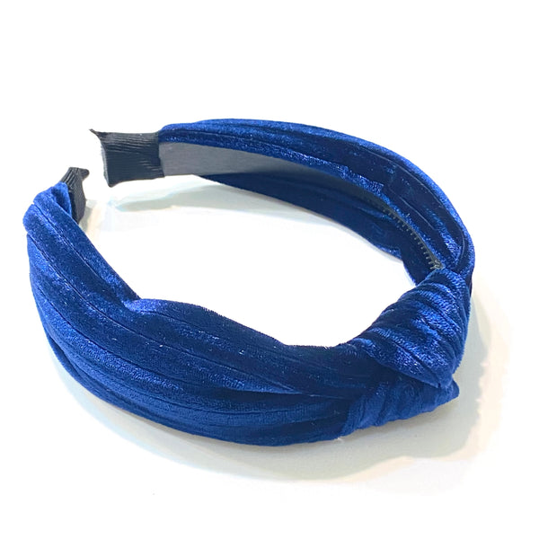 Velvet Striped Knot Headband