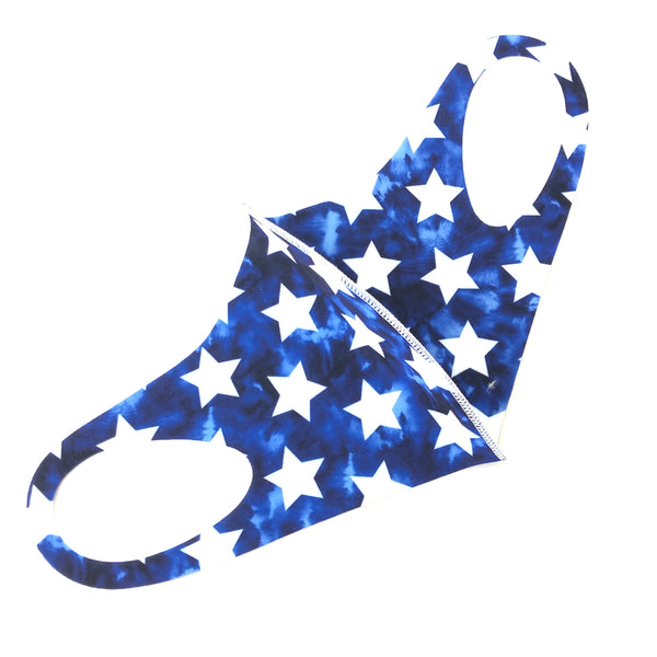 Noellery Adult Unisex Blue White Stars Reusable Face Mask