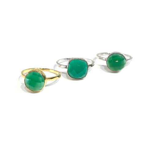 Felice Gemstone Ring Emerald
