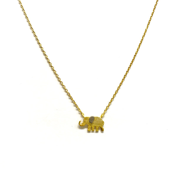 Kory Elephant Brass Necklace