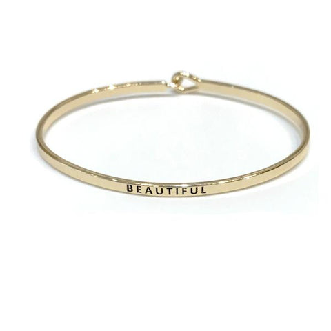 Mantra Bangle 'Beautiful'