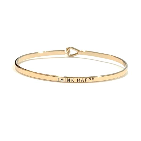 Mantra Bangle 'Think Happy'