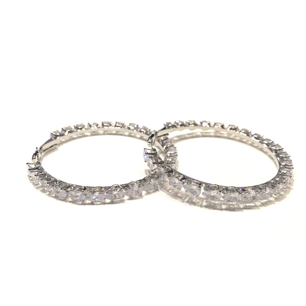 Eternity Teardrop CZ Hoops