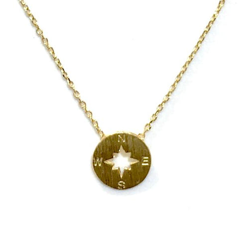 Compass Brass Necklace