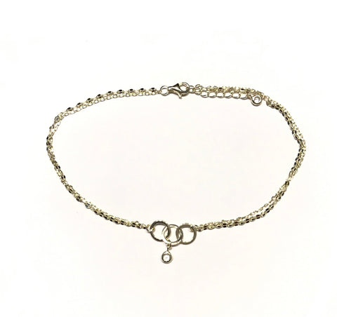 Triple Circle Layered Anklet