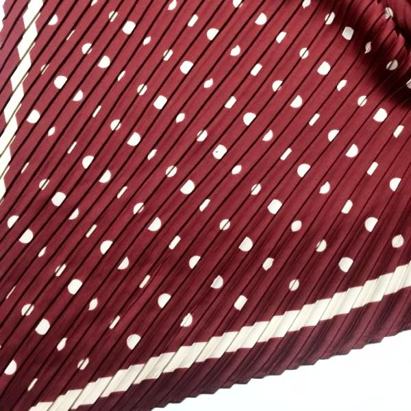 Pleated Scarf- Polka Dot