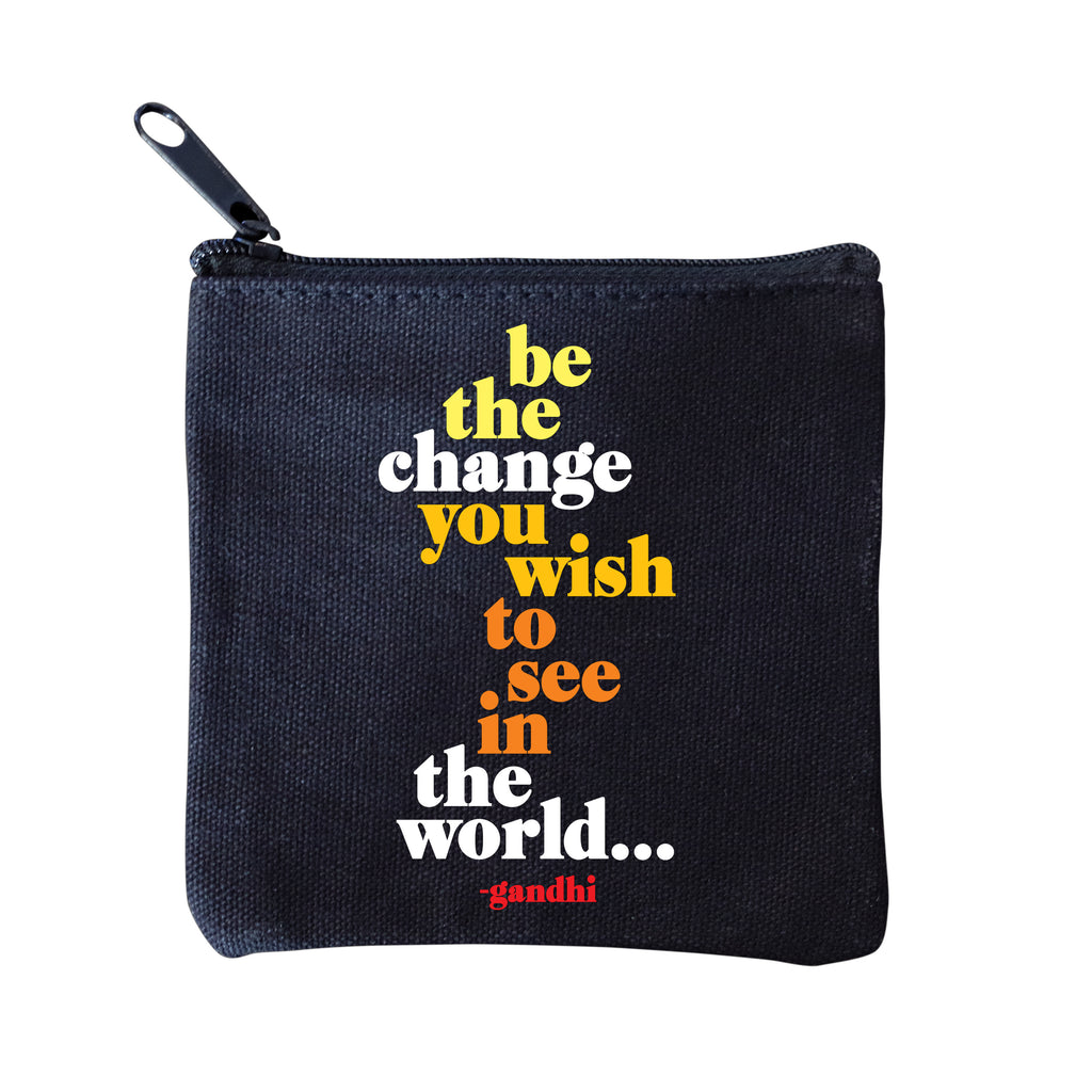 Be The Change Pouch